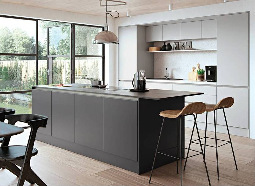 New Matt Kitchens Gallery - Dark grey matt kitchen