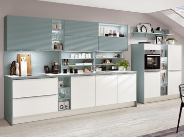 Matt Kitchen Aqua White