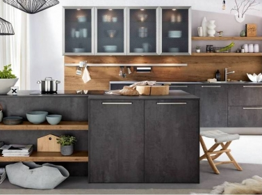 Matt Kitchen Black Concrete