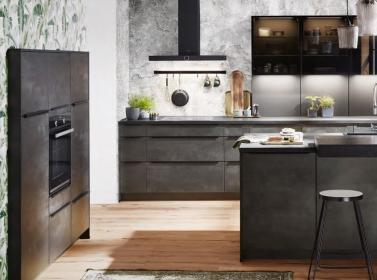 Matt Kitchen Black Concrete