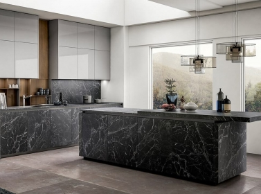 Matt Kitchen Black Marble