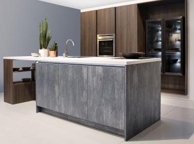 Matt Kitchen Blue Concrete
