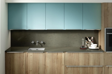 Matt Kitchen Blue Wood PWS