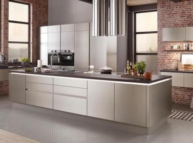 Matt Kitchen Brushed Steel