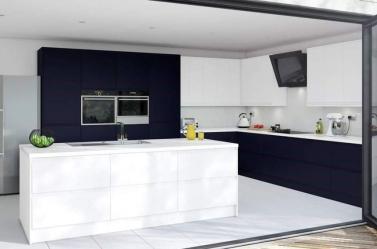 Matt Kitchen Dark Blue White