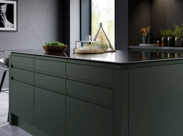 Matt Kitchen Dark Green