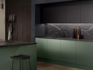 Matt Kitchen Dark Green