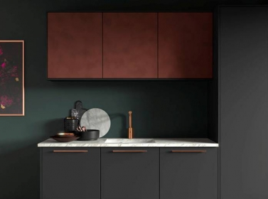 Matt Kitchen Dark Grey Copper