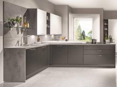 Matt Kitchen Dark Grey White