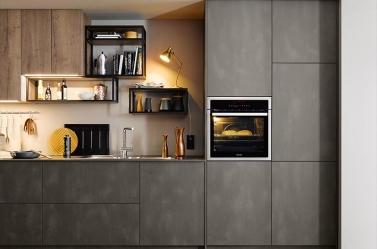 Matt Kitchen Dark Steel Wood SCH