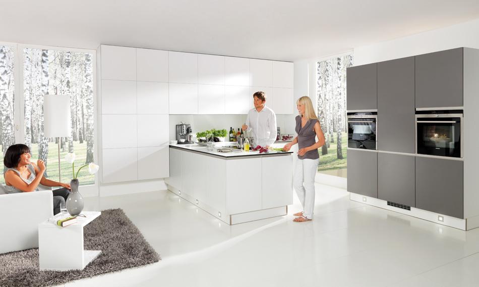 Grey And White Kitchen Part - 48: Matt Kitchen Grey White