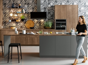Matt Kitchen Grey Wood