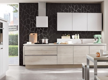 Matt Kitchen Light Grey Wood