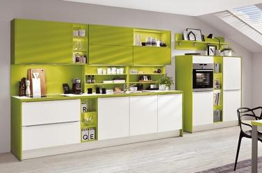 Matt Kitchen Lime Green White
