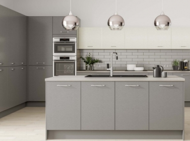Matt Kitchen Mid Grey Cream