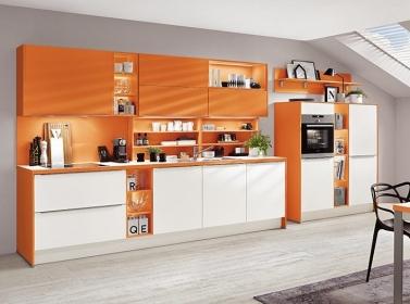 Matt Kitchen Orange White