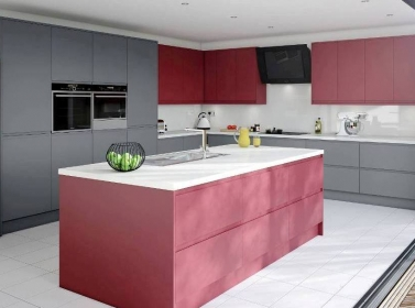 Matt Kitchen Red Grey