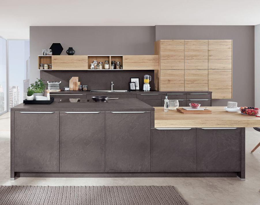 Matt Kitchen Slate Wood