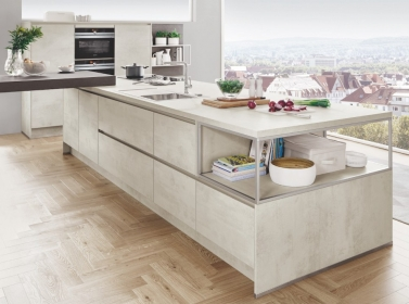 Matt Kitchen White Concrete