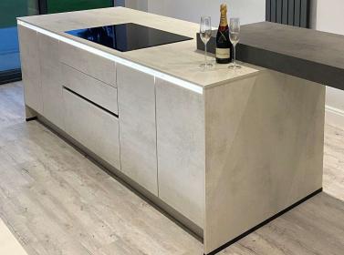 Matt Kitchen White Concrete