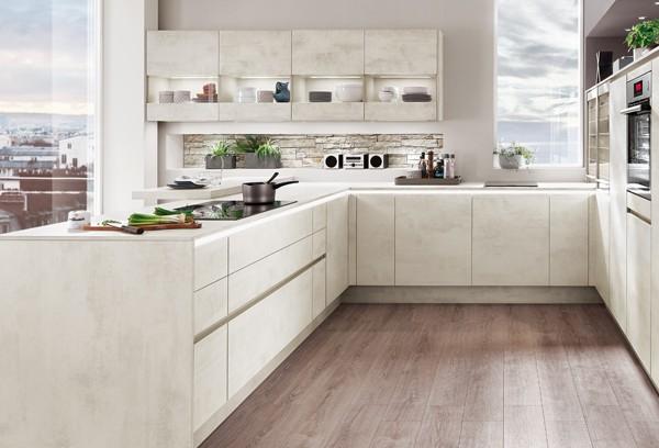 Matt Kitchen White Concrete NOB