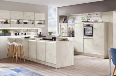 Matt Kitchen White Concrete NOB