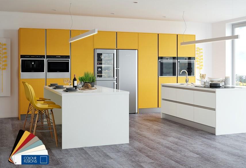 Matt Kitchen Yellow White