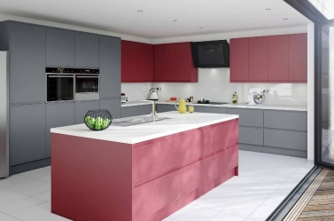 Matt Kitchen Red Charcoal