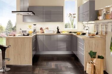 Mid Grey Gloss Kitchen