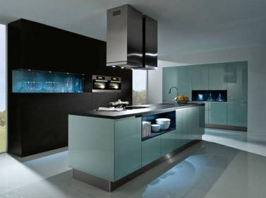 Ocean Blue Gloss Kitchen