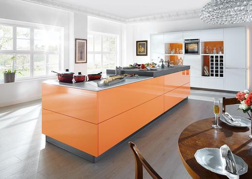 Orange Gloss Kitchen