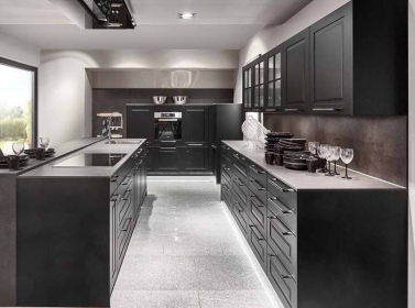 Painted Kitchen Black
