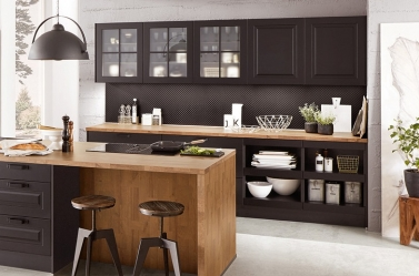 Painted Kitchen Black 4