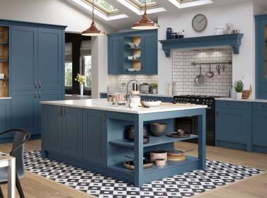 Painted Kitchen Blue