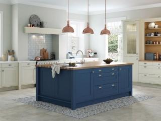Painted Kitchen Blue & Cream