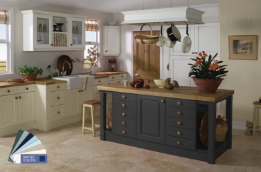 Painted Kitchen Charcoal Cream White