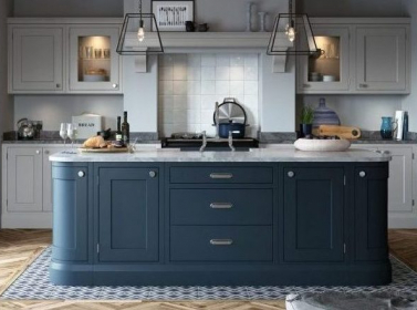 Painted Kitchen Dark Blue