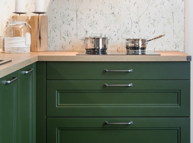 Painted Kitchen Dark Green