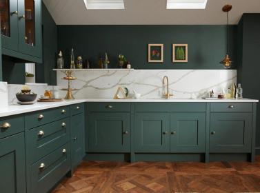 Painted Kitchen Dark Green