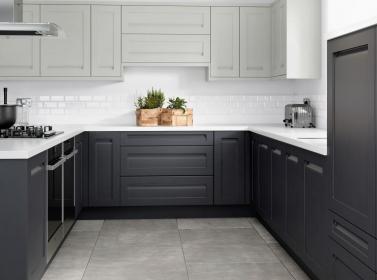 Painted Kitchen Dark Grey