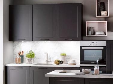 Dark Grey Painted Kitchen