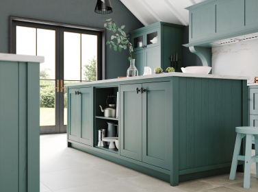 Painted Kitchen Green