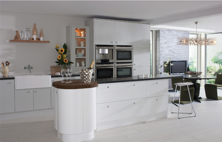Painted Kitchen Grey White