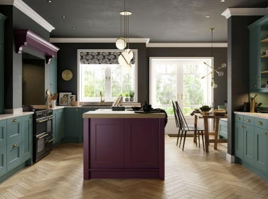 Painted Kitchen Heather Purple