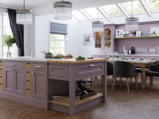 Painted Kitchen Lavendar