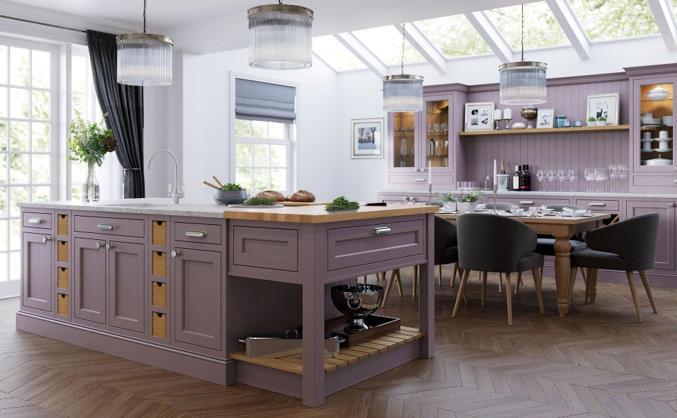 Painted Kitchen Lavendar