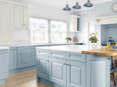Painted Kitchen Light Blue