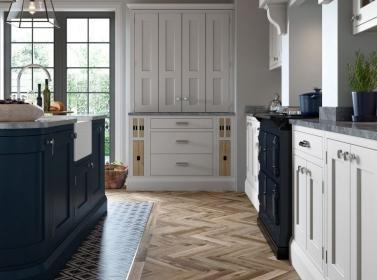 Painted Kitchen Light Grey Blue