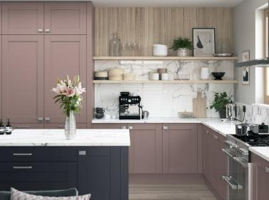 Painted Kitchen Light Pink