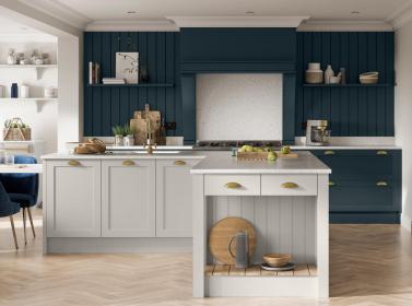 Painted Kitchen Marine Blue